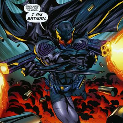 "Jason Tod as a militarized ""Batman"" in Battle for the Cowl"