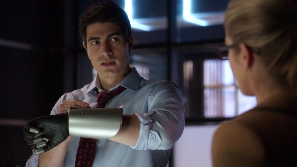 Ray Palmer hard at work going all Iron Man