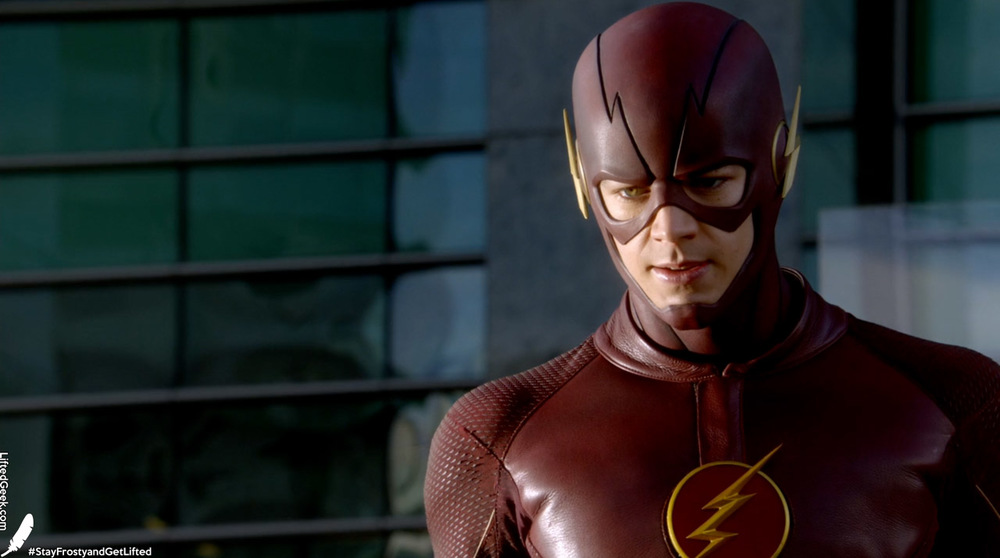 "The Flash showing his ""seriously gonna kick your ass"" face"