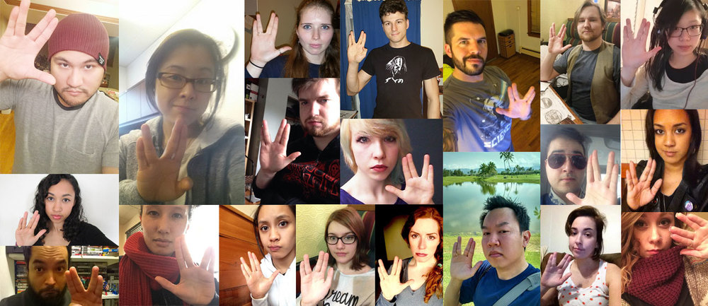 Live Long & Prosper: some of us at Lifted Geek salute our fallen icon...
