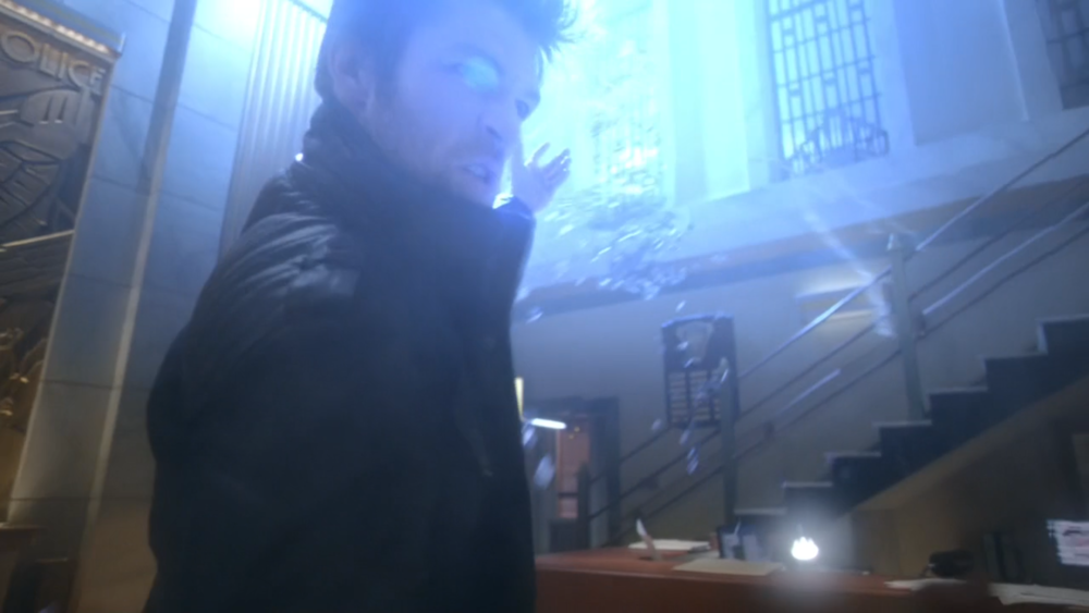 Fellow  Spartacus  alum Liam McIntyre guest stars as the Weather Wizard