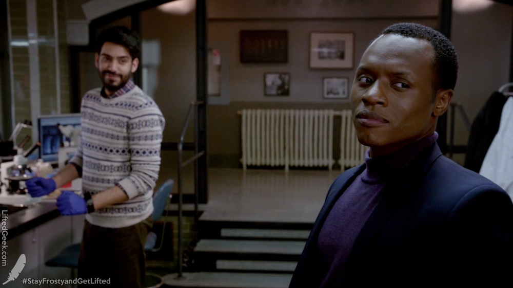 Liv's boss Dr. Ravi Chakrabarti and Detective Clive Babineaux