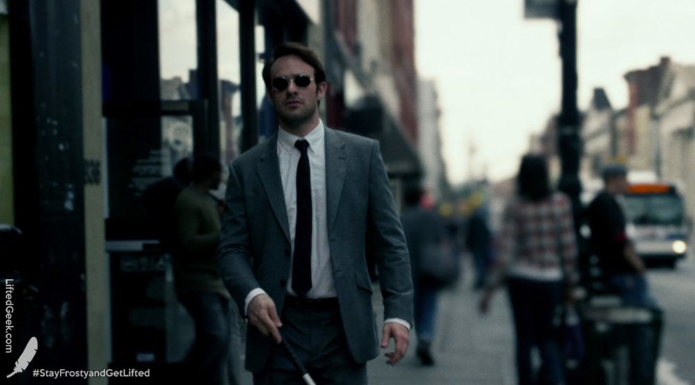 Charlie Cox as Matt Murdock/Daredevil on  Marvel's Daredevil