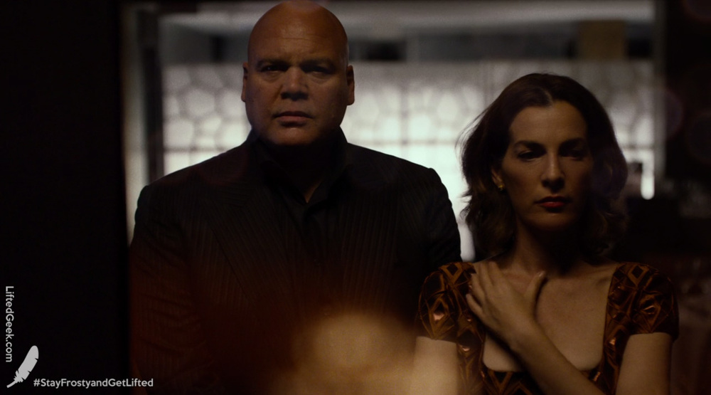 Vincent D'Onofrio as Wilson Fisk and Ayelet Zurer as Vanessa Marianna