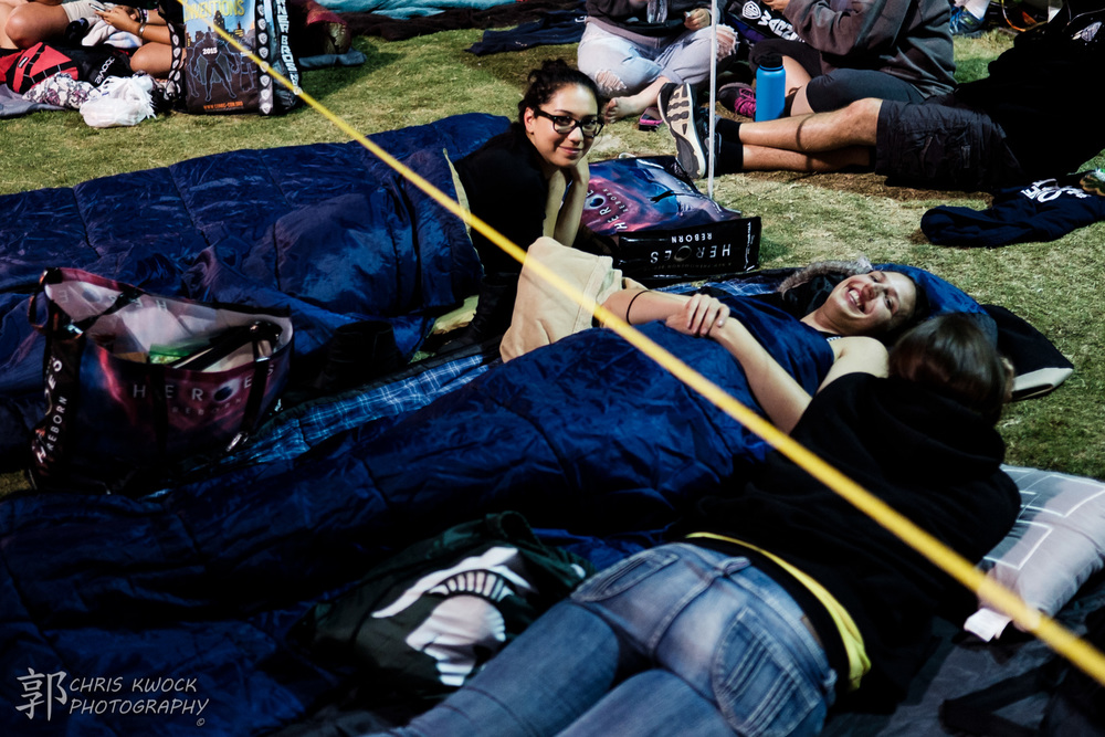 SDCC attendees camped out for Hall H from the day before