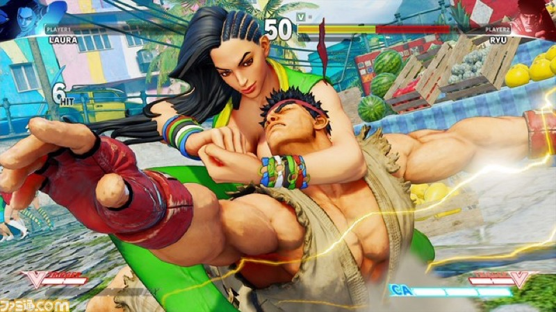 Laura already making Street Fighter mainstay Ryu tap to what looks like the Crippler Crossface