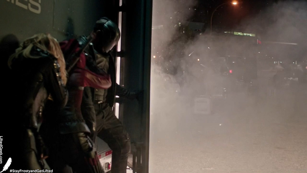Team Arrow under attack by Ghosts