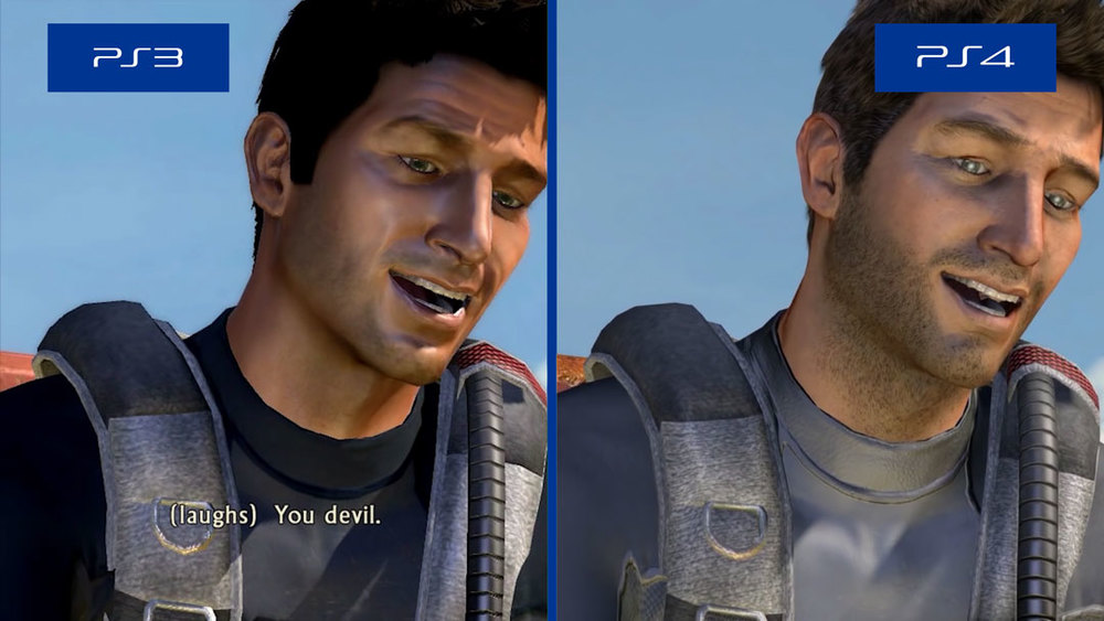 Uncharted: Drake's Fortune PS3 and PS4 comparison