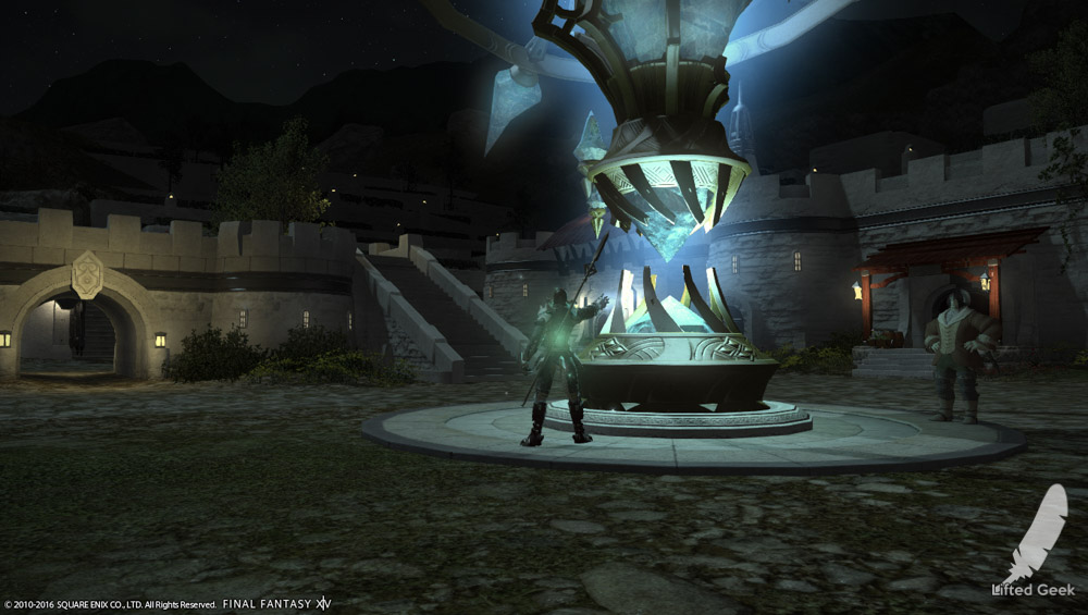 The crystal theme persists all over Eorzea