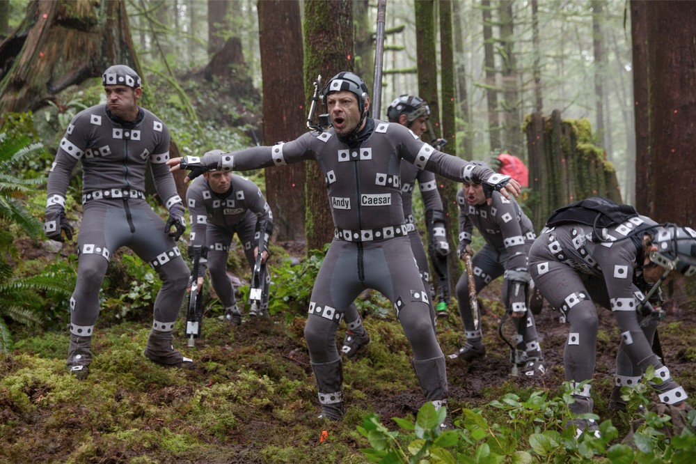 The motion capture apes for Planet of The Apes