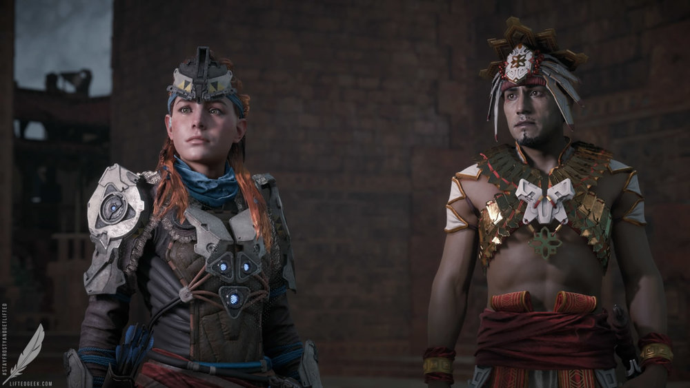 Aloy with Sun-King Avad