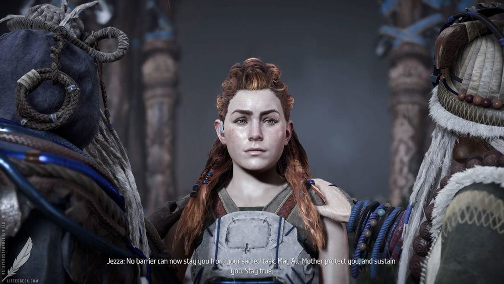 Aloy, the game's protagonist