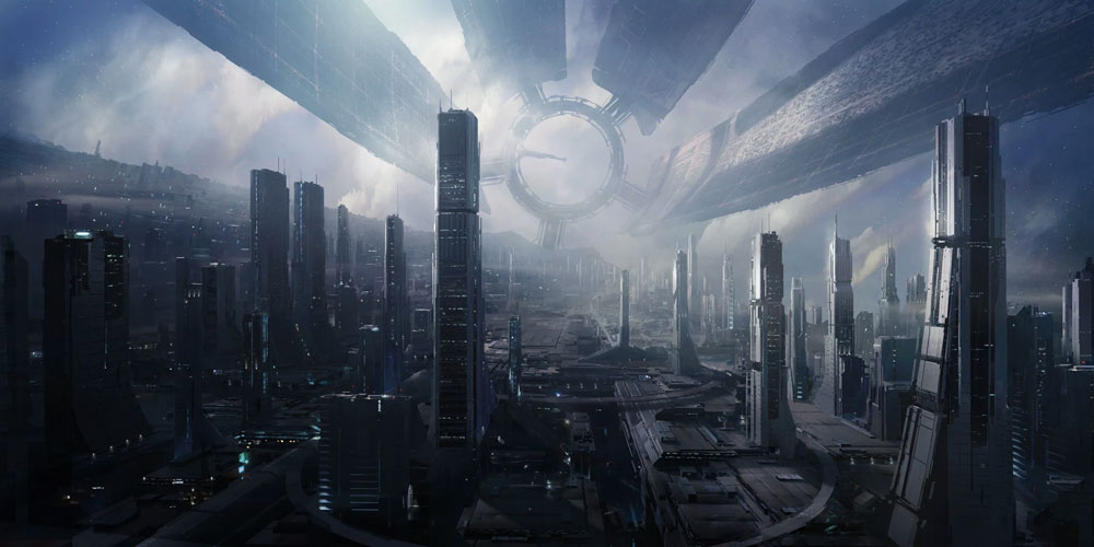 the Citadel, the center of the Galactic government