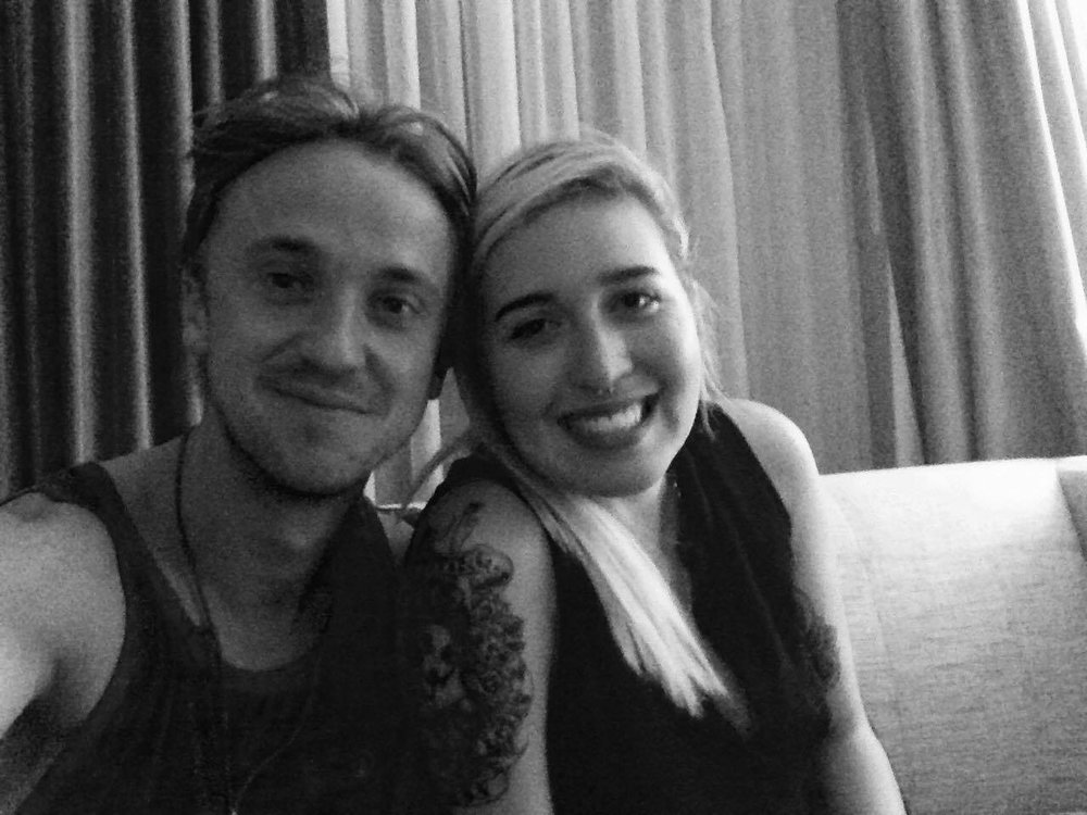 Tom Felton selfie in 2016