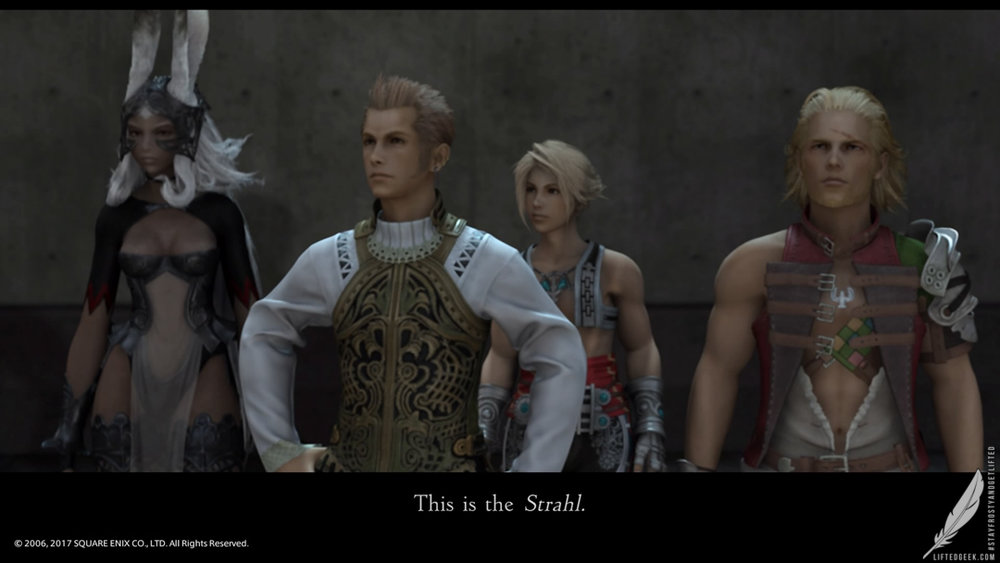 Fran, Balthier, Vaan, and Basch