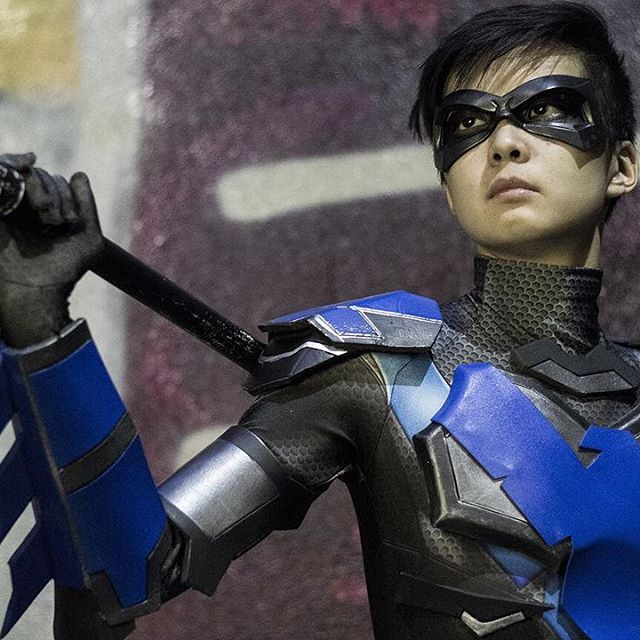 Bullet Shot Hero  cosplaying as Dick Grayson/Nightwing