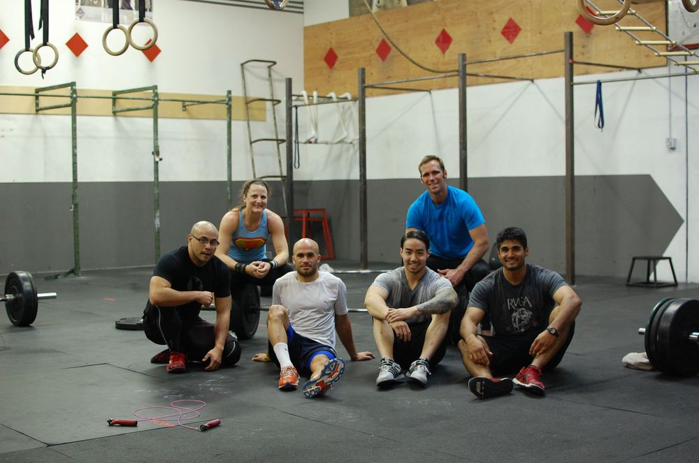 Judd, Nicole, Florian from Frankfurt, Steve, Jeff and Fernando feeling post WOD euphoria.