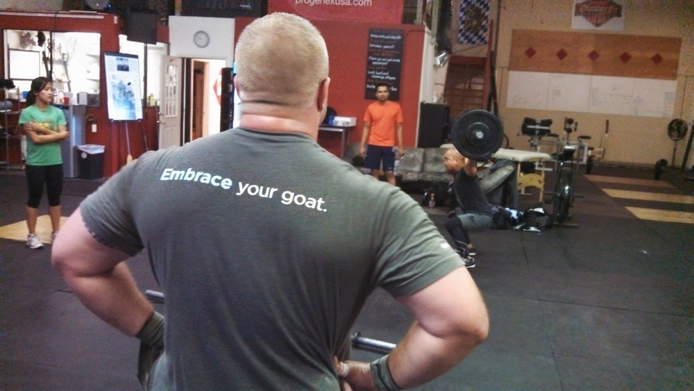 A goat is a chink in your armor or weakness.  If your weakness is overhead squats.... then milk that goat!