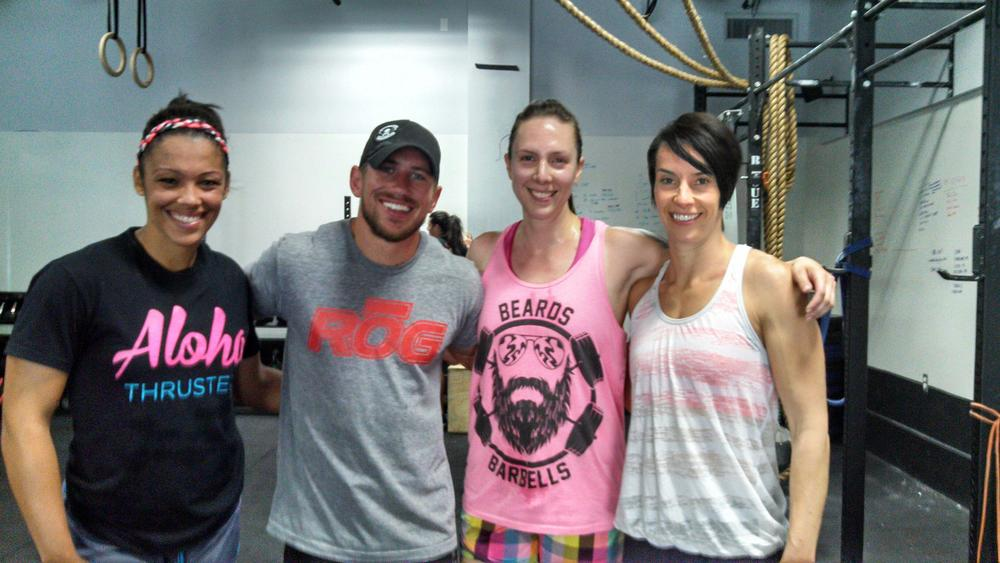 Brittany, Andréa, Anthony and Michaela hang out with CrossFit celebrity DAN BAILEY!