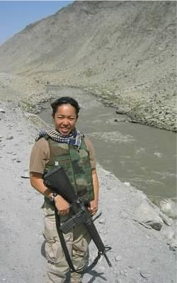 """ All the vet postings has brought up memories. Here is mine to share. On our way to Jalalabad over 10 years ago. Thanks to those who continue to serve."" -Monita Sun"