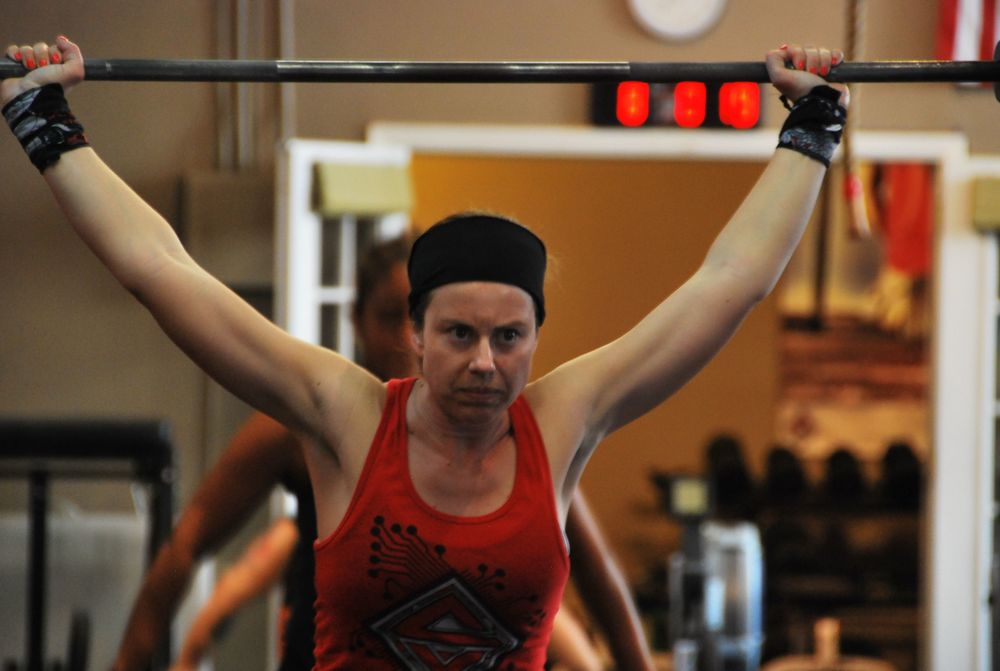 Ronda is intense yet focused on keeping good form! Ronda is usually all smiles.