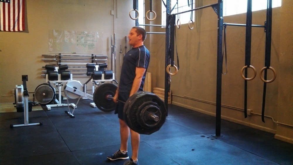 Erik Schei hit a #405 deadlift today- a 40 lb personal record!