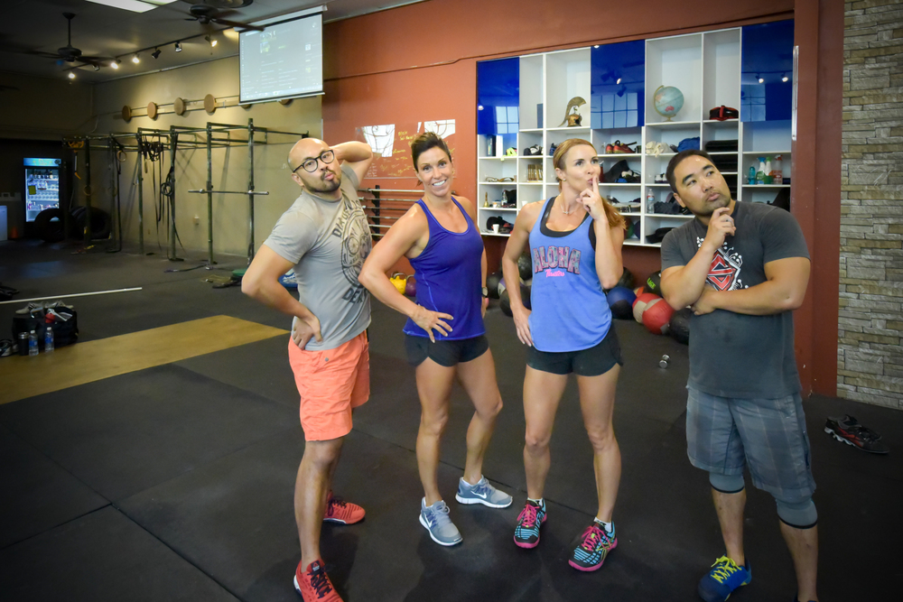 "The CrossFit Team Series masters repping CFSV is rocking the first set of WODs! You will find these Geritol Gangstas in the leaderboard as ""EMOM your MOM"". Also, look for our Rx team and our Scaled team ""We Scaled Your Mom""."