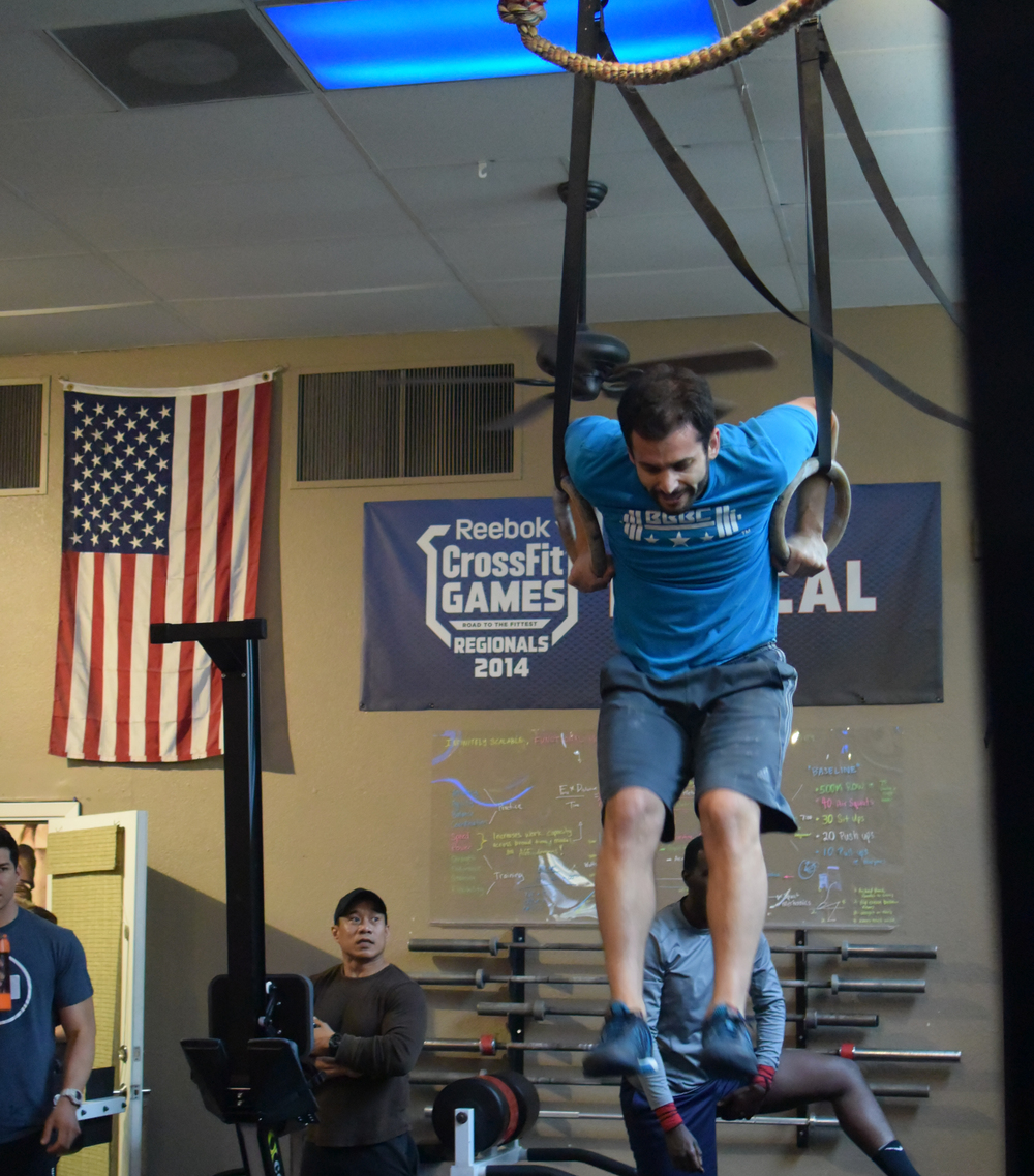 Ryan's muscle ups and handstand pushups are proven to be his strengths as he tacked down 15.3 and 15.4 in a competition setting!