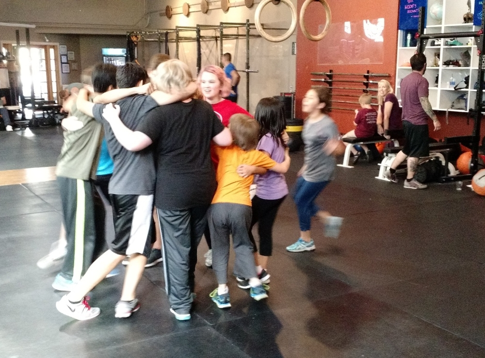 Like Iceland Annie, these little lions are going through a tough workout- ALL SMILING!