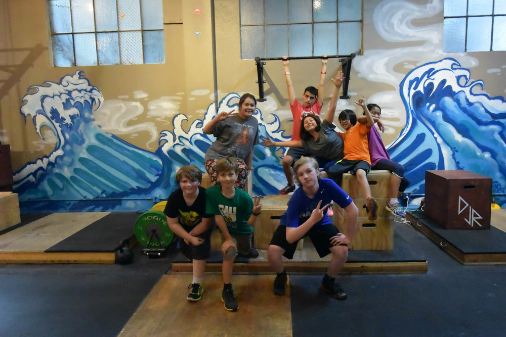 CrossFit Kids going super hero mode at CFSV for posterity's sake, because one day they will do great things for all!
