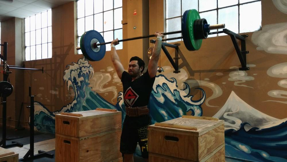 Ves hits a #246 lb push press!