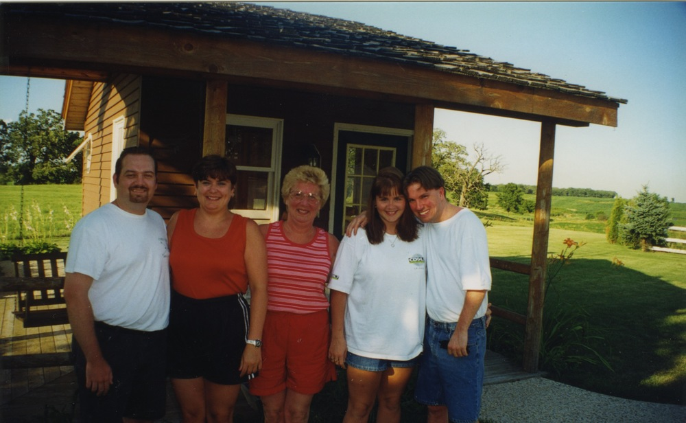 Ryan, me, Mom, Shell, Jim in Lake Geneva - my mom's favorite place