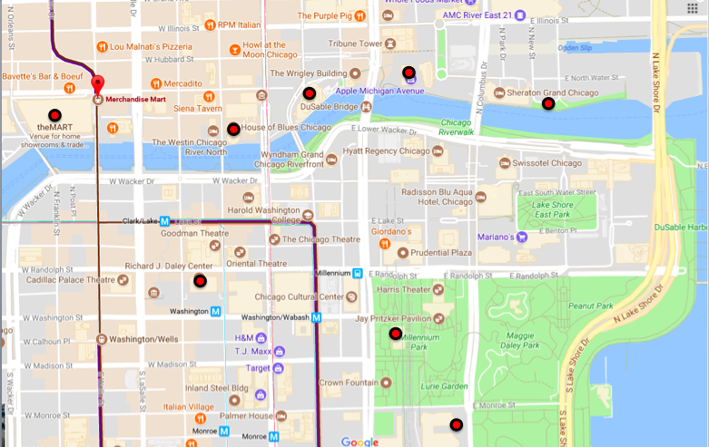 Highlights of our route with the nephew (doesn't include a quick trip to Wrigley Field or Wilmette to photograph the Bahai Temple)...15,000 steps on the tracker!