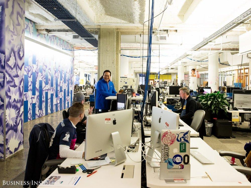 Facebook office, Business Insider, December 2017