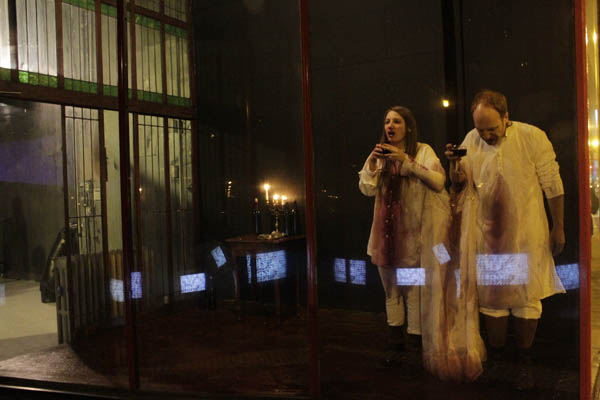 "Still from live performance ""For Health and Strength (Saviors),"" 2011 (with Mark Jeffery)"