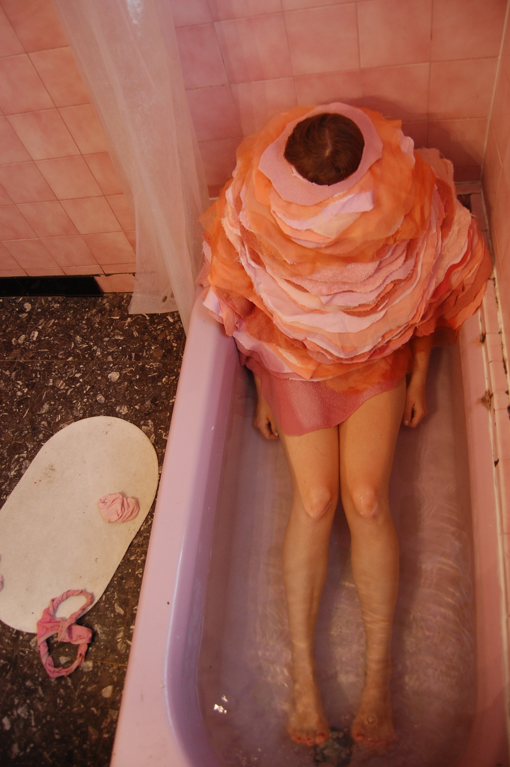 Performance still from Topography series, 2010