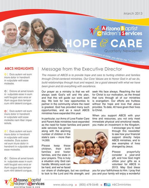 Print Telos Design LLC - Children's newsletter template
