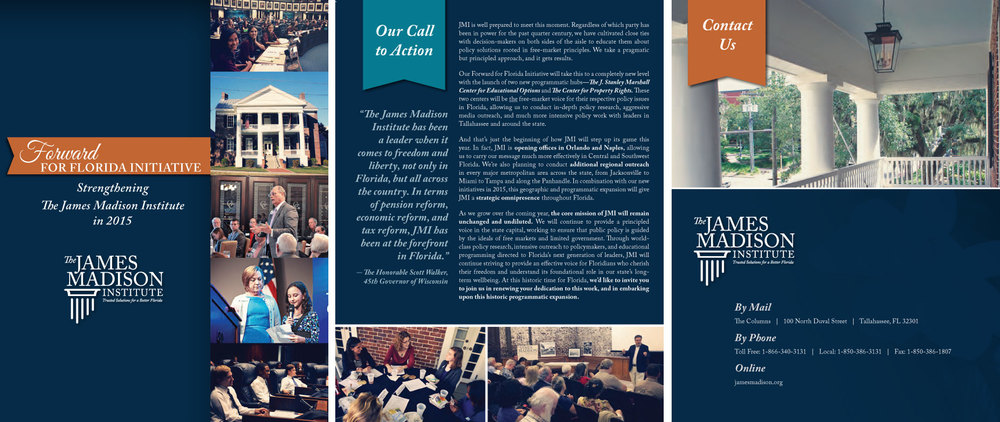 With American Philanthropic, we created new brochure for The James Madison Institute, Forward for Florida Initiative along with additional collateral material (coming soon).