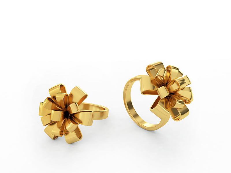 Ribbon ring 18k gold. It can be made in yellow, white or rose gold.