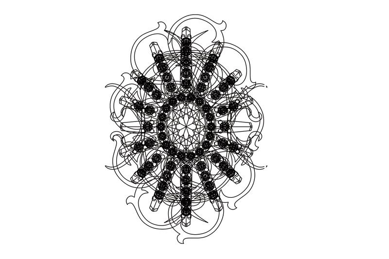 Belleville pendant. Technical drawing.