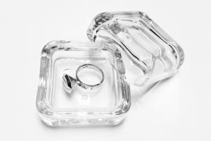 Promise ring 18k white gold