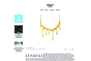 Complete parts exhibition. Promotional website by Draft Space. NYC, USA, 2014