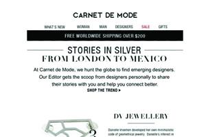 Carnet de Mode. Stories in Silver. France, 2014
