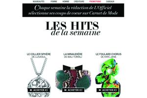 L'Officiel magazine. Les hits de la semaine. France, 2014