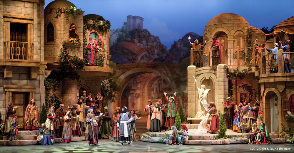 """Scene from """"Jonah"""" at the Sight & Sound Theater."""
