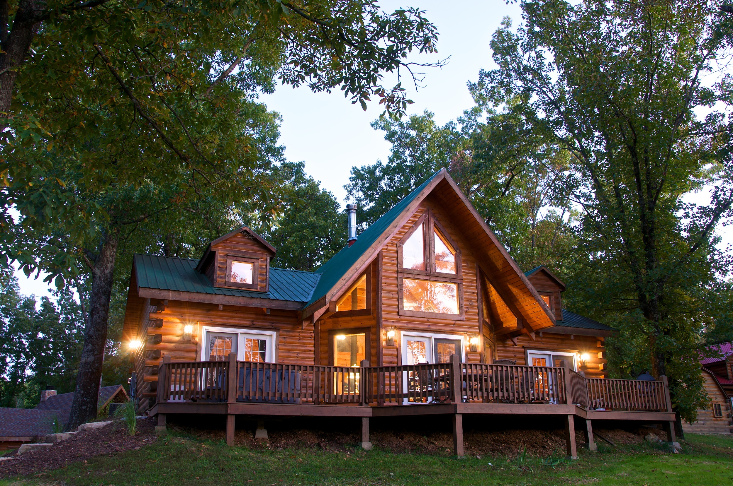 overlooking whispering hills lr arkansas lakeview luxury log bluff cedar cabins in romantic