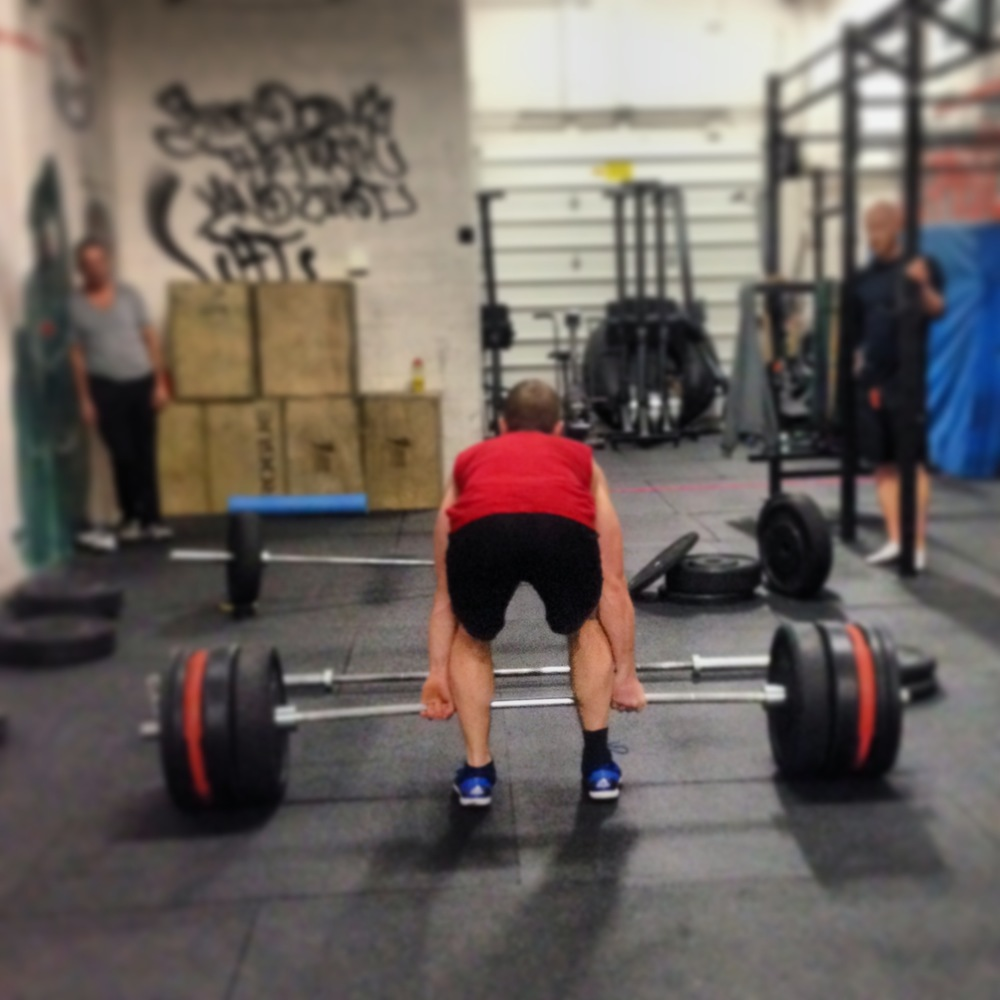 Kyle B setting up for a deadlift