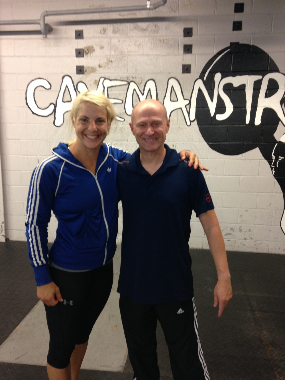 Coach Sommer and Coach Mia at the Gymnastics Bodies Seminar