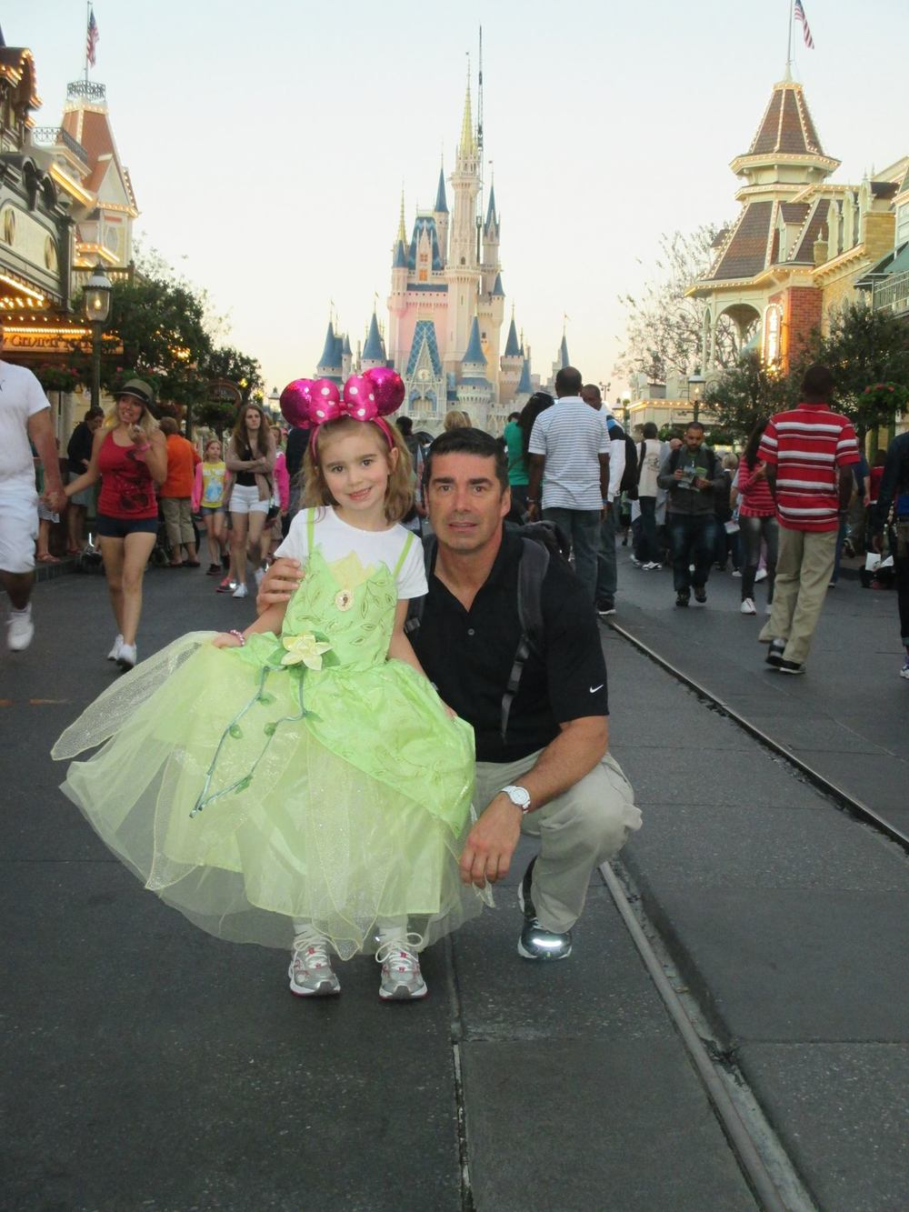 CLaude and HIs Daughter in Disney World