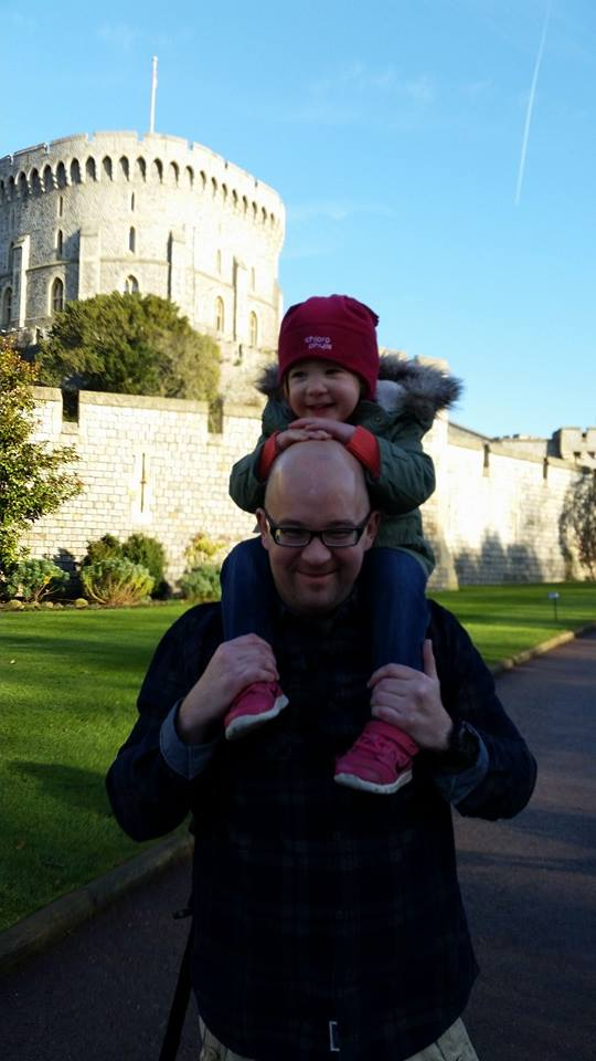 Chris and his lil one @ the Windsor Castle